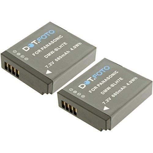 2 x Dot.Foto remplacement Panasonic DMW-BLH7E batterie