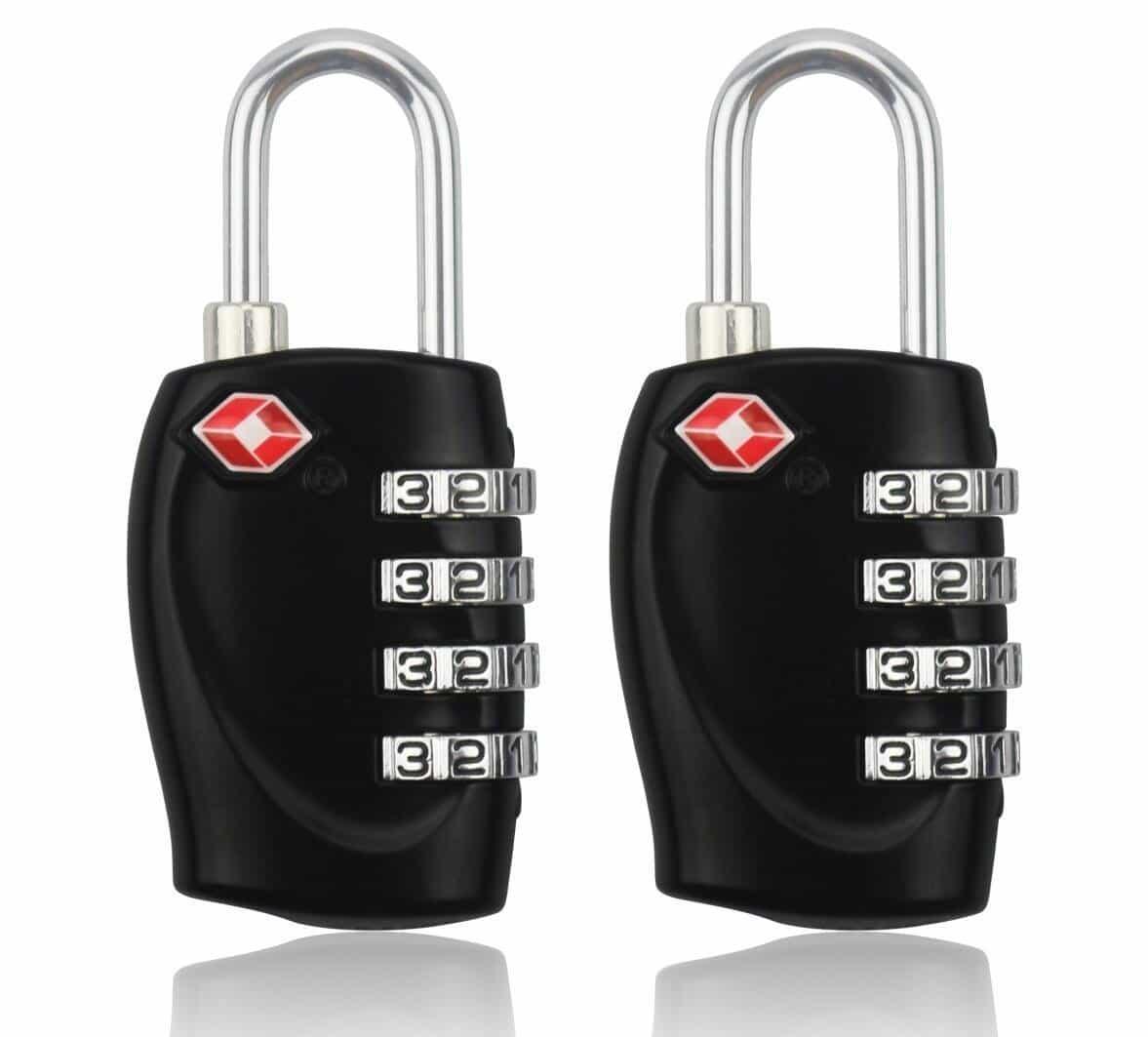 Cadenas de sécurité à combinaison de 4 chiffres