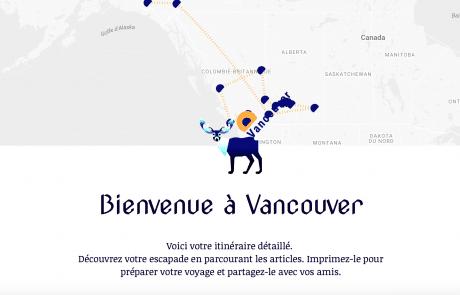 créer son itinéraire au Canada